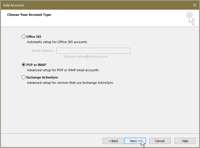 AOL Mail Account to Outlook 2016 Using IMAP