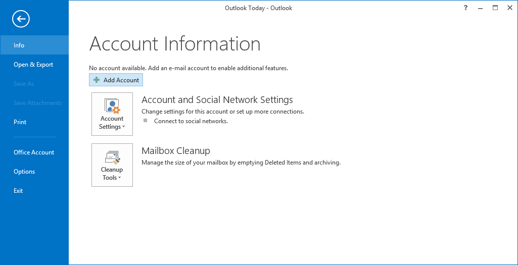 AOL Mail Account to Outlook 2013 Using IMAP