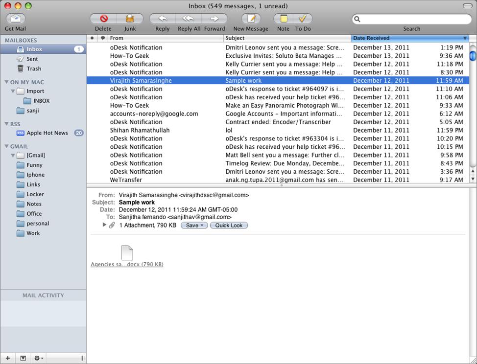Apple Gmail App Mac