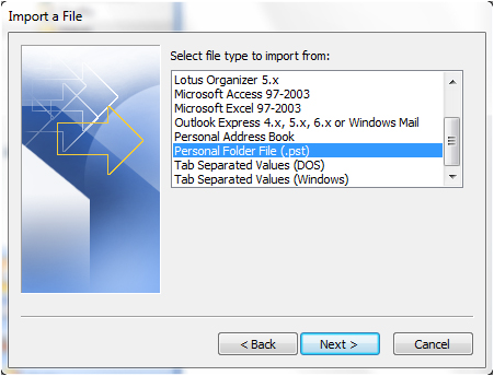 Gmail Outlook 2007