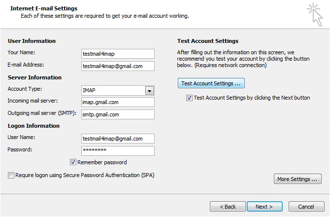 Gmail Outlook 2010 image8