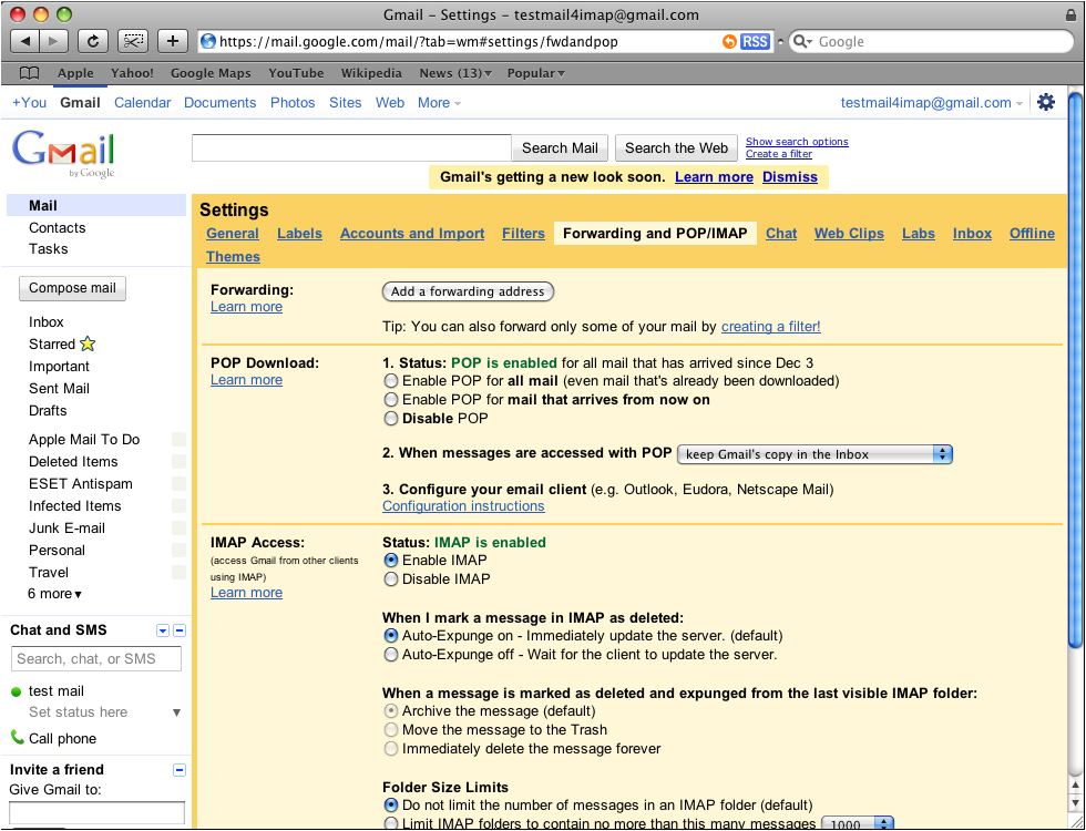 gmail Outlook 2011 Mac image1