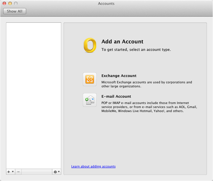 gmail Outlook 2011 Mac image3