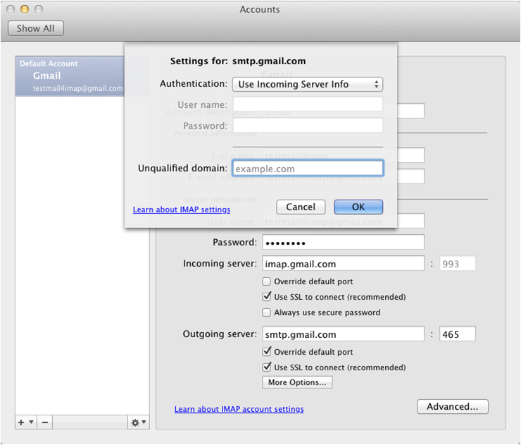 gmail Outlook 2011 Mac image6