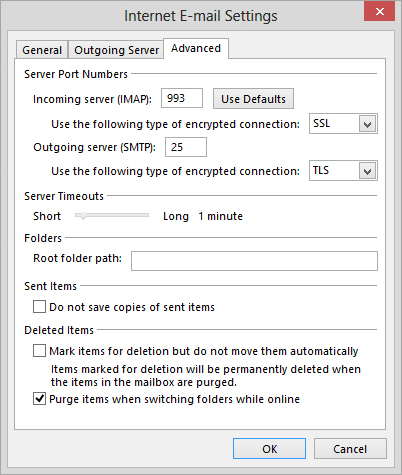 gmail account pop settings for outlook 2013