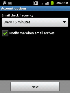 Yahoo Account to Android Using IMAP