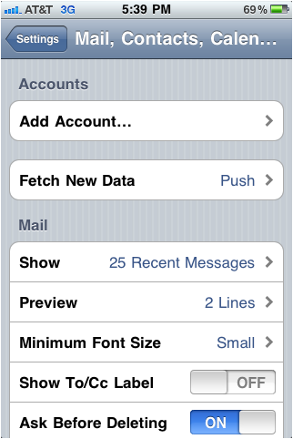 Yahoo mail Account to iPhone Using IMAP