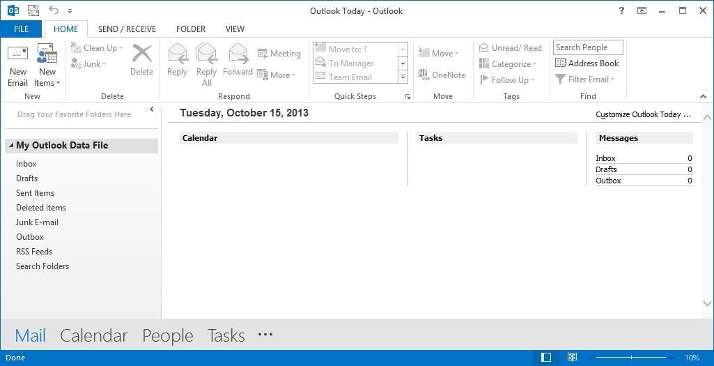 yahoo Outlook 2013 Image1