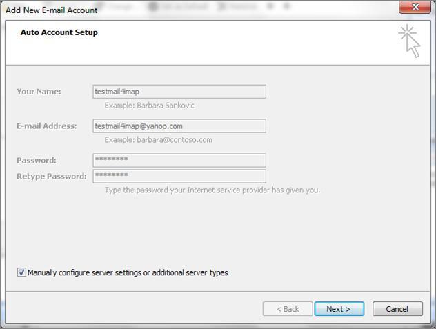 Yahoo Account to Outlook Using IMAP