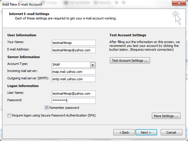 Bellsouth pop3 settings outlook