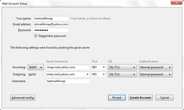 how to set up a password to open thunderbird