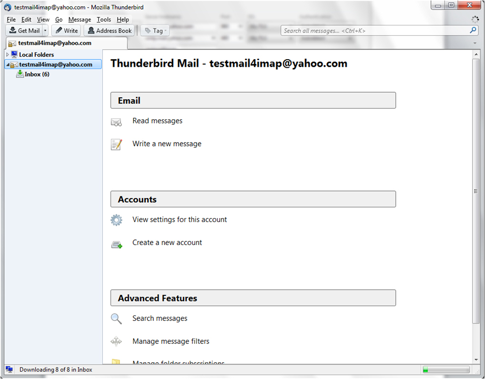 probleme yahoo mail zu thunderbird